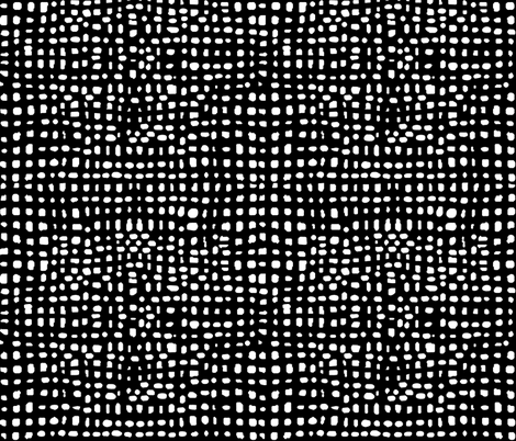 Weave - Black and White Simple Minimal Grid by Andrea Lauren fabric by andrea_lauren on Spoonflower - custom fabric