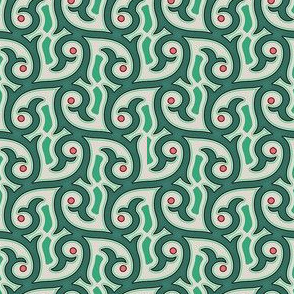 Moroccan pattern green