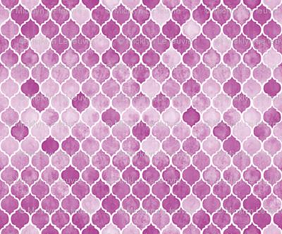 Textured Magenta Plum Moroccan