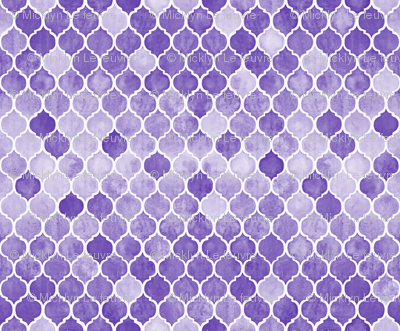 Textured Purple Moroccan