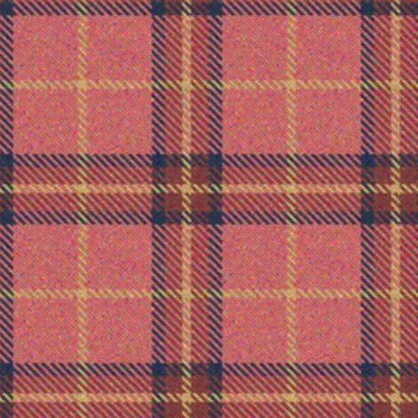Peach, Cranberry and Lemon Plaid 2 fabric by eclectic_house on Spoonflower - custom fabric