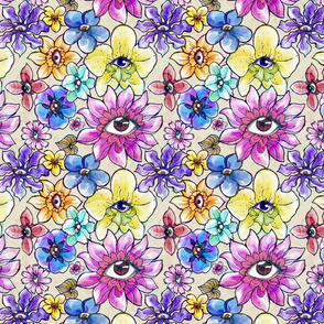 Eyes in Flowers