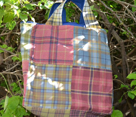 Peach, Cranberry and Lemon Plaid 4