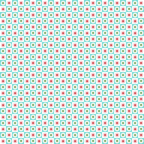 Atomic Star (Blue Christmas) || midcentury modern atomic stars starburst check checkerboard geometric holiday fabric by pennycandy on Spoonflower - custom fabric