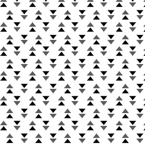 Black White Linear Triangle