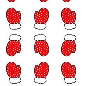 Red Polka Mittens