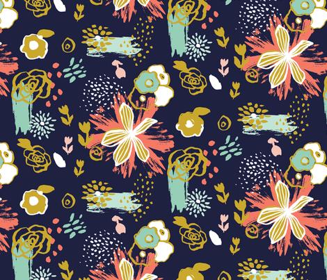 maizy navy fabric verysarie spoonflower