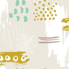 spring expression khaki & aqua