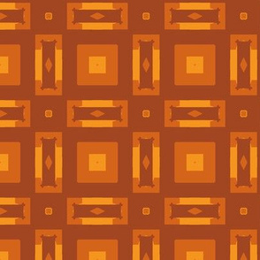 Squares and Blocks in Rust and Yellow
