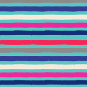 Painted Stripe Turq Colorful