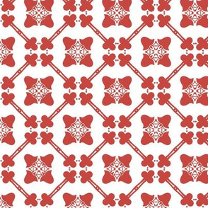Crimson Flower Grid