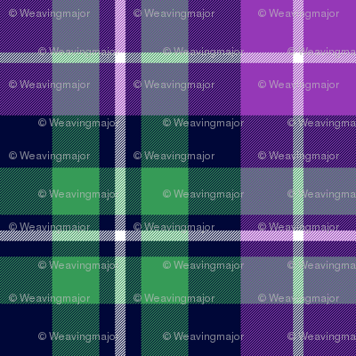 MacNeil tartan - greyed green and purple
