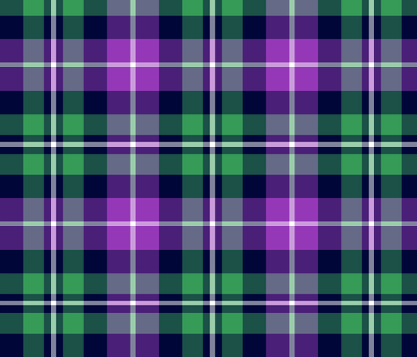 MacNeil tartan - greyed green and purple fabric by weavingmajor on Spoonflower - custom fabric