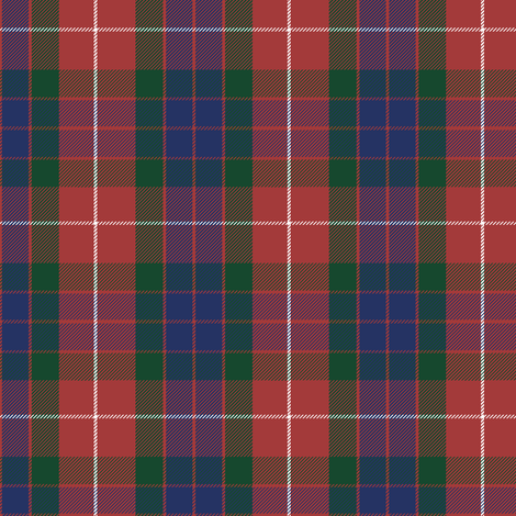Fraser red tartan, greyed fabric by weavingmajor on Spoonflower - custom fabric