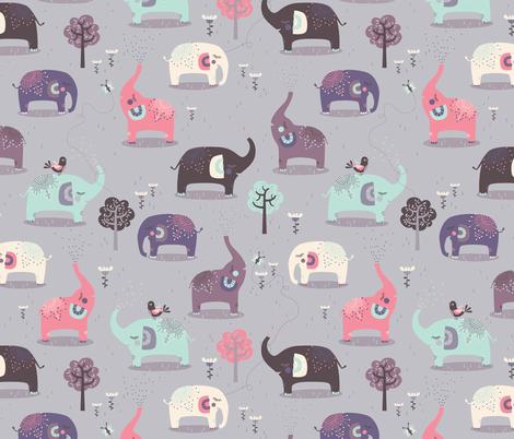 Elephant Dreams fabric by zesti on Spoonflower - custom fabric