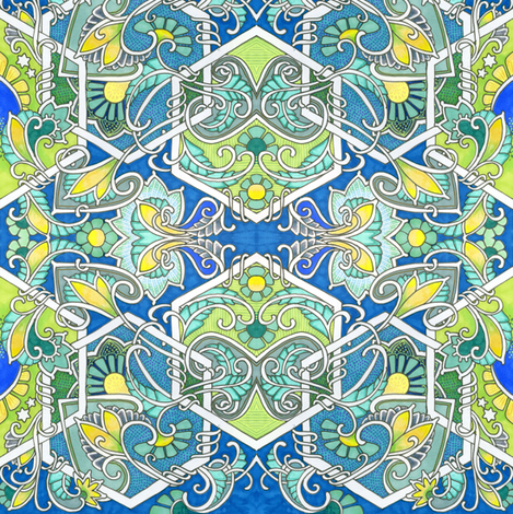 Life on a Blue Green Planet fabric by edsel2084 on Spoonflower - custom fabric