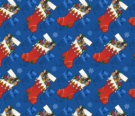 Christmas stockings fabric by hannafate on Spoonflower - custom fabric