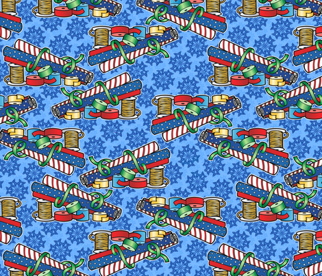 wrapping paper fabric by hannafate on Spoonflower - custom fabric