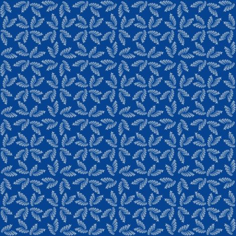 Run for Life minis on blue fabric by suzhar on Spoonflower - custom fabric