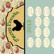 Tea Towel 2019_calendar_horizonal