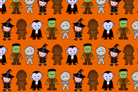 LIL' MONSTERS fabric by edwinyuan on Spoonflower - custom fabric