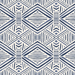Tribal Geometric Navy
