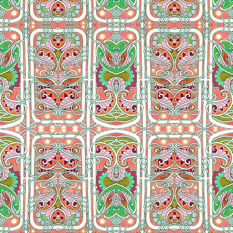 Mahjong Evenings fabric by edsel2084 on Spoonflower - custom fabric