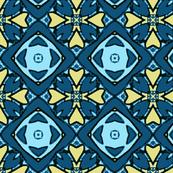 Blue and Yellow Diamond Pattern