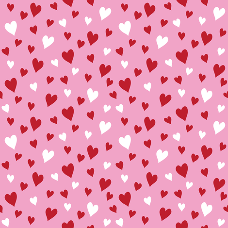 Heart to Heart (Pink) fabric by robyriker on Spoonflower - custom fabric