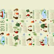 2018 Hedgehog Camping Calendar