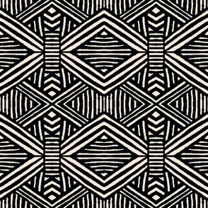 Tribal Geometric BW