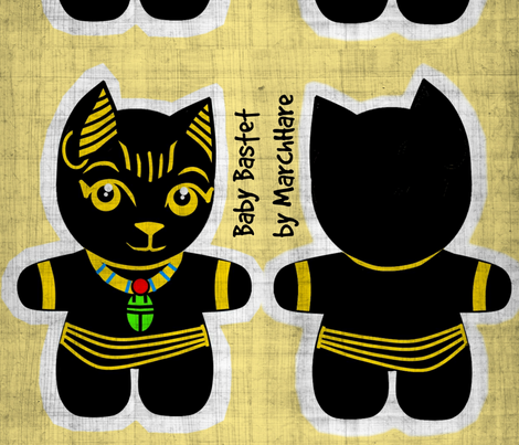 Baby Bastet fabric by marchhare on Spoonflower - custom fabric