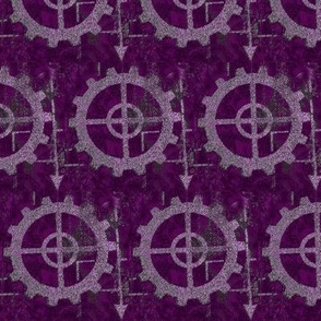 Industrial_steampunk purple arrow cog