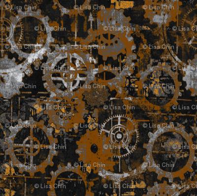 Grungy Rust Gears