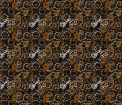 Grungy Rust Gears fabric by somethinglisa on Spoonflower - custom fabric