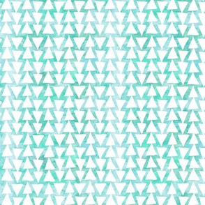 Geometric Green Teal Triangles