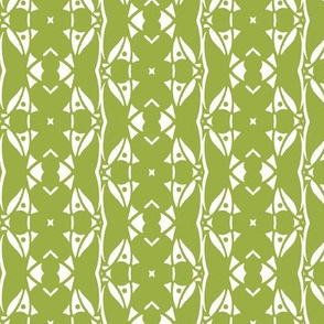 Green and White Abstrace Vertical Design