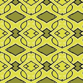Light Green and Dark Green Abstract Weave