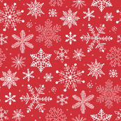 Snowflakes Christmas Red