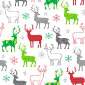 Christmas Deer white background
