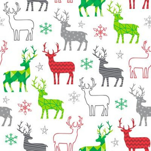 Christmas Deer white background