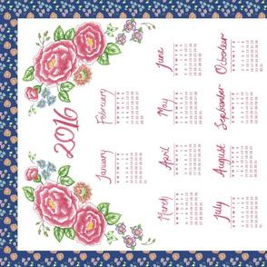 2016 Retro Floral Calendar