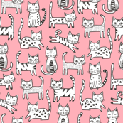Cats with Stripes Pink