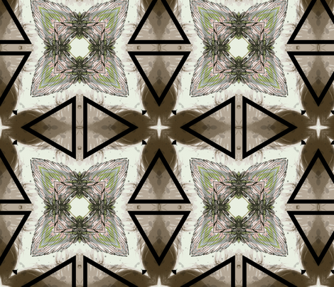 Kaleidoscope_Feathers_1 fabric by porshawebb on Spoonflower - custom fabric