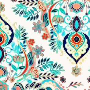 Modern Folk in Jewel Colors