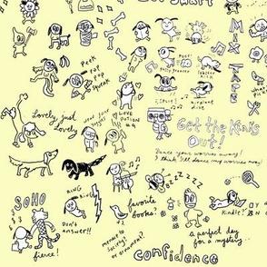 Oh Puppy! Cartoon Variety Fabric