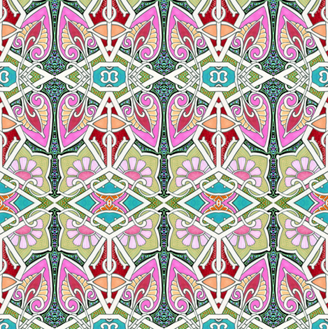 Moderne Geometric Garden fabric by edsel2084 on Spoonflower - custom fabric