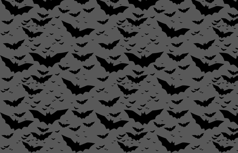 bats (grey background) fabric by eleventy-five on Spoonflower - custom fabric