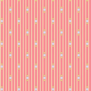 curtain stripe spring flowers 2