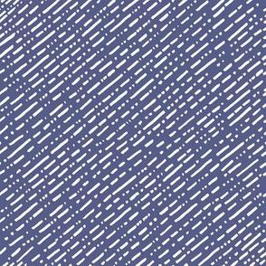 Dot Dot Dash Linear Diagonal Repeat - Navy Blue